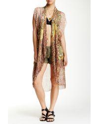 Subtle Luxury - Giraffe Abstract Kimono Shrug - Lyst
