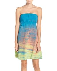 Hard Tail - Strapless Cover-up Dress - Lyst