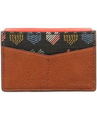 Fossil - Leather Card Case - Lyst