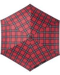 Steve Madden - Tartan Plaid Folding Umbrella - Lyst