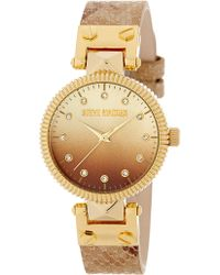 Steve Madden - Women's Ombre Crystal Snake Embossed Leather Watch - Lyst