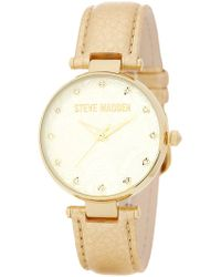 Steve Madden - Women's Paisley-embossed Crystal Dial Leather Strap Watch - Lyst