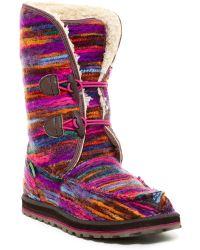 Sanuk Horizon Woven Faux Fur Lined Boot (women) - Multicolor