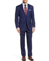 Peter Millar - Classic Fit Windowpane Wool Suit - Lyst