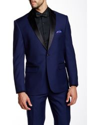 Nicole Miller - Blue Modern Fit Dinner Jacket - Lyst