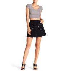 Jolt Stud Mini Skirt - Black
