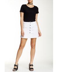 Jolt - Seamed Denim Mini Skirt - Lyst
