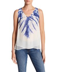 Casual Studio - V-neck Double Layer Twin Layer Blouse - Lyst
