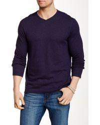 Tommy Bahama Moray Reversible V-neck Sweater - Blue