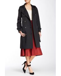 SOIA & KYO - Terence Double Breasted Trench Coat - Lyst
