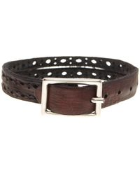 Tommy Bahama - Punched Hole Leather Bracelet - Lyst
