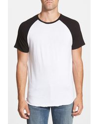The Rail - Short Raglan Sleeve Baseball T-shirt - Lyst