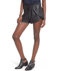 The Fifth Label Passenger Faux Leather Shorts - Black