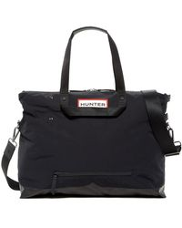 HUNTER Original Nylon Moustache Packable Weekend Bag - Black