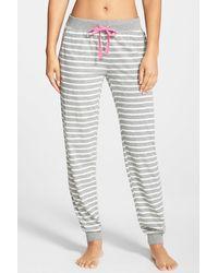 Cozy Zoe - Slub Stripe Jersey Jogger Trousers - Lyst