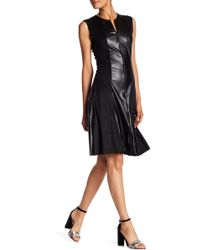 Petit Pois - Suede Pleather Flair Dress - Lyst
