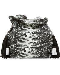 Cynthia Vincent - Desiree Leather Tassel Bucket Bag - Lyst
