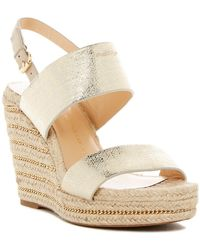 Vince Camuto Signature - Dacey Genuine Snakeskin Wedge Sandal - Lyst