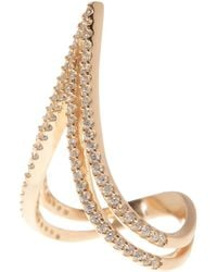 Native Gem Rose Gold Vermeil Pave Victory Ring - Metallic