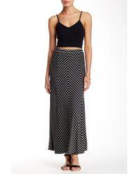 Adrienne Vittadini - Stripe Maxi Skirt - Lyst