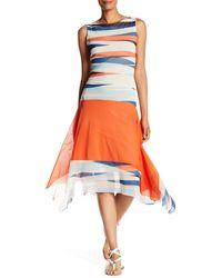 Petit Pois - Boat Neck Printed Dress - Lyst