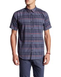 ourCaste - Kevin Short Sleeve Plaid Shirt - Lyst
