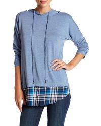 ANAMÁ - Hooded Plaid Hem Shirt - Lyst