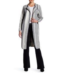 ANAMÁ - Geometric Knit Long Jacket - Lyst