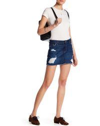 Genetic Denim | Lyndsay Distressed Denim Skirt | Lyst