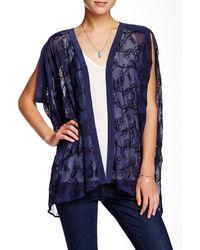 Gypsy 05 - Embroidered Silk Chiffon Kimono - Lyst