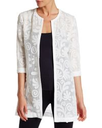 Grayse - Sequin Embroidered Silk Lined Coat - Lyst
