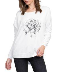 RVCA - La Petite Rose Fleece Pullover - Lyst