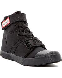 HUNTER Original Canvas Sneaker - Black
