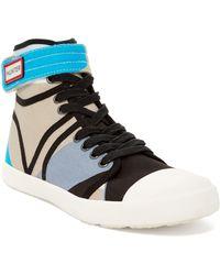 HUNTER Original Dazzle High Top Sneaker - Blue