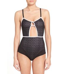 RVCA - 'play Nice' Lace Bodysuit - Lyst