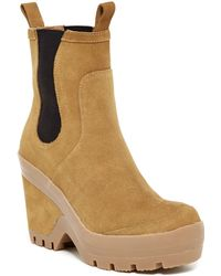 HUNTER - Original Chelsea Wedge Boot - Lyst