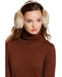 Ted Baker - Faux Fur & Genuine Leather Ear Muffs - Lyst