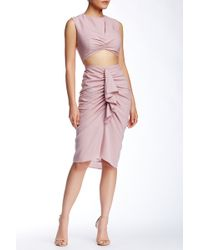 Do+Be Collection - Ruched Crop Skirt - Lyst