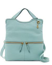 Fossil - Erin Leather Shoulder Bag - Lyst