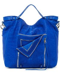 She + Lo Let It Ride Convertible Leather Bag - Blue