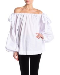 5fefe473b68 Haute Rogue - Off-the-shoulder Blouson Sleeve Blouse - Lyst