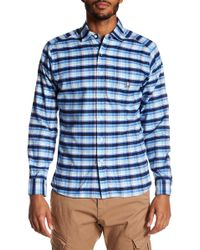 Psycho Bunny - Long Sleeve Flannel Regular Fit Sport Shirt - Lyst
