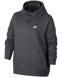 Nike - Funnel Neck Hoodie (plus Size) - Lyst
