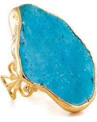 Charlene K Turquoise Stone Ring - Blue
