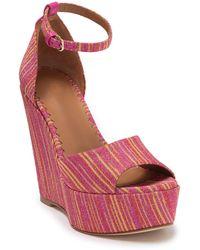 Missoni Open Toe Platform Wedge Sandal - Multicolor