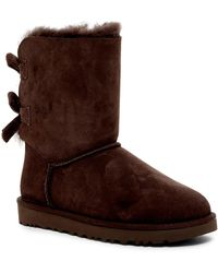 UGG - Bailey Twinface Genuine Shearling & Pure(tm) Bow Corduroy Boot - Lyst