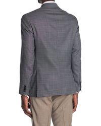 Ted Baker Kyle Gray Screen Weave Two-button Notch Lapel Slim Fit Wool Sport Coat