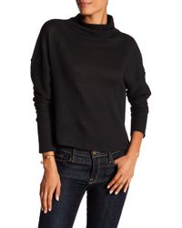 Laundry by Shelli Segal - Ribbed Mock Neck Sweater - Lyst