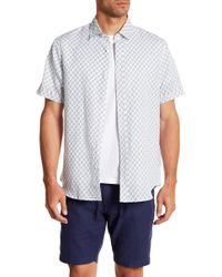 Tocco Toscano - Short Sleeve Floral Print Woven Shirt - Lyst