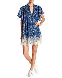 Free People Marigold Mini Dress (navy) Dress - Blue